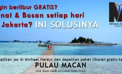 Jas Pria berhadiah Undian Jalan Jalan ke Pulau Macan